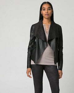 Leather-Like Open Front Throwover: Le Chateau XXS - BRAND NEW