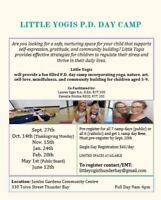 Little Yogis PD Day Camp