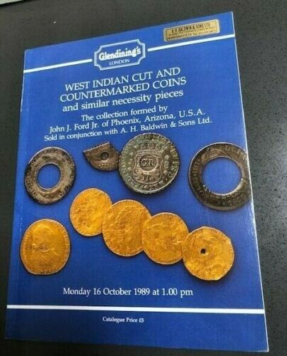 West Indian Cut and Countermarked Coins Ford Collection auction Glendinings 1989