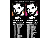 2 x Drake tickets SSE Hydro Glasgow 25/1/17, great SEATS in centre, face value