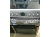 [ex display] BEKO BDVC674MS 60 cm Electric Ceramic Cooker – Silver