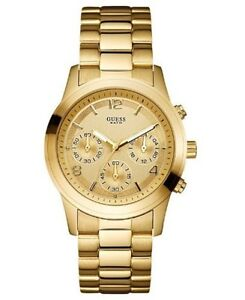 New Guess U13578L1 Chronograph Gold Stainless Steel Ladies Watch in Original Box