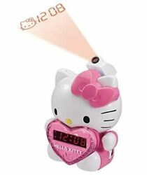 Hello Kitty Girls AM FM Projection Alarm Clock Radio KT2064 Kids Music Clock