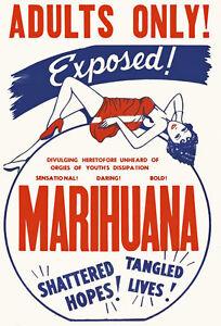 AD49-Vintage-Marihuana-Marijuana-Anti-Drugs-Poster-A3-17-x12-Re-Print