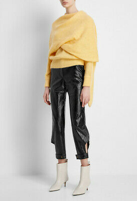 NEW $735 Rejina Pyo Leon Faux Leather Trousers, Size 6 US / 10 UK