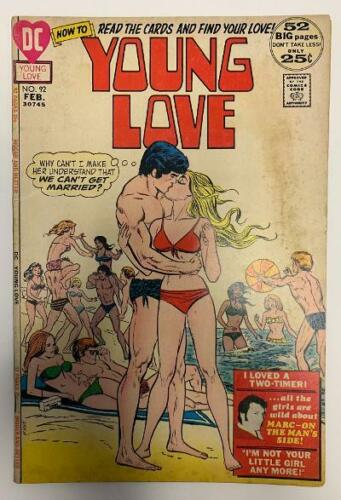 (1972) Young Love #92! Bronze age DC love stories! Rare!