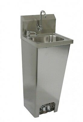 Foot Operated Hand Sink 16x15 Stainless Steel Etlnsf No Lead Faucet