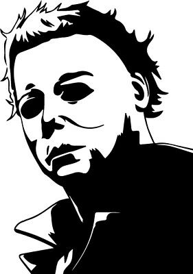 Michael Myers vinyl decal sticker Halloween Carpenter Horror monster (Home Decorations Halloween)