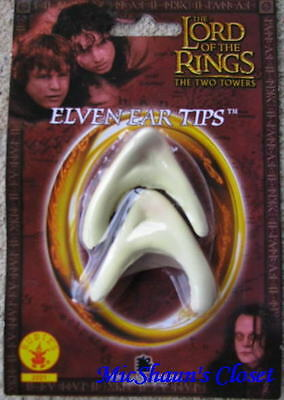 Used, Lord of the Rings Movie Elf Ears Licensed Costume Legolas Tips Arwen Hobbit for sale  Shipping to India