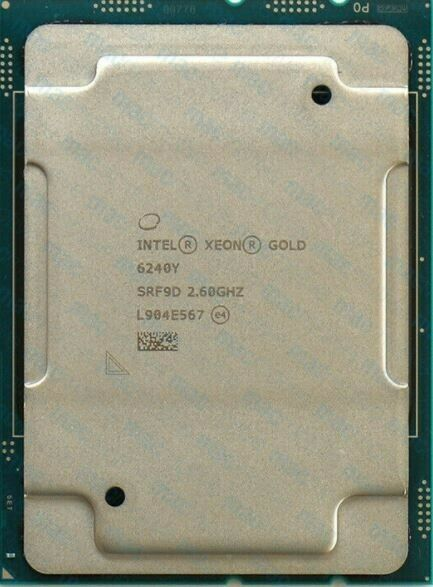 Intel® Xeon® SCALABLE Gold 6240Y SRF9D 2.60 GHz 18-core 24.75 MB CPU