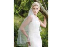 Two Tier Rainbow Club Firefly Wedding Veil Crystal Drop - Brand New in Box
