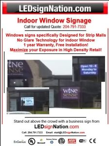 Indoor Window Sign Designed for Strip Malls!
