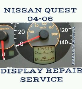 2005 nissan quest instrument cluster speedometer lcd. Black Bedroom Furniture Sets. Home Design Ideas