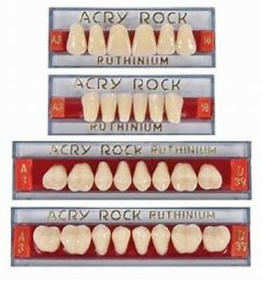 Lot 4 Teeth Set of 28 Tooth Acrylic Dental Acryrock Dentures BEST PRODUCT (Best Wound Care Products)