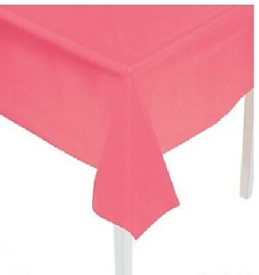 Table Cover Coral Plastic Rectangle  Party Decorations Tableware Tablecover for sale  Beverly Hills