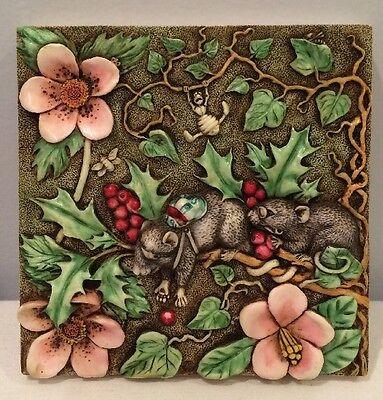 NIB Harmony Kingdom Picturesque Two Blind Mice PXGE1 Tile Byron's Secret Garden