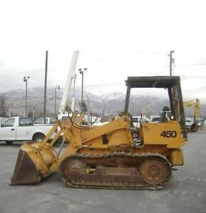 CASE 450 Loader Backhoe Crawler Dozer Tractor Shop Service Repair Manual CD FAST