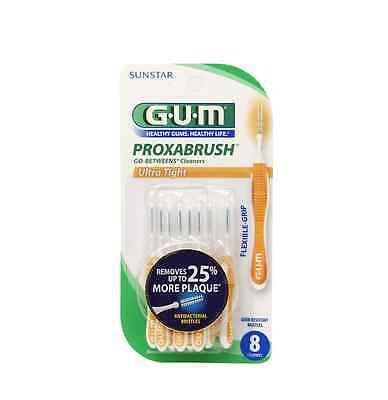 GUM Proxabrush Go-Betweens Cleaners, Ultra Tight 8 ea