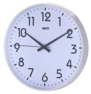 UNITY FRADLEY SILENT SWEEP NON-TICKING WALL CLOCK 12