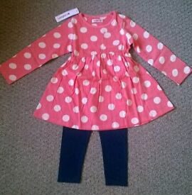 New With Tags. Dress And Leggings Outfit. 2-3yrs.