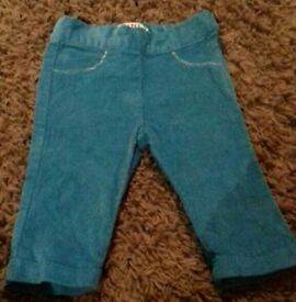 DKNY teal corded trousers 6 months