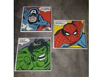 Marvel Character Canvas Set