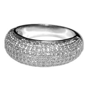 cubic zirconia wedding rings that look real the look of real pave dome cubic zirconia band ring high 3221