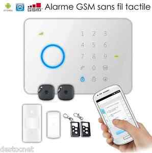 kit alarme gsm tactile sans fil g5 compatible smartphone maison appartement ebay. Black Bedroom Furniture Sets. Home Design Ideas