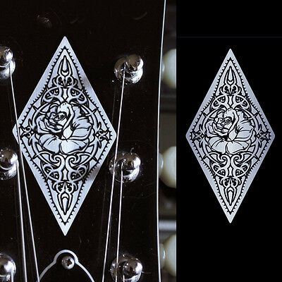 Rose Diamond (Carved Pattern Metallic) Inlay Sticker Decal