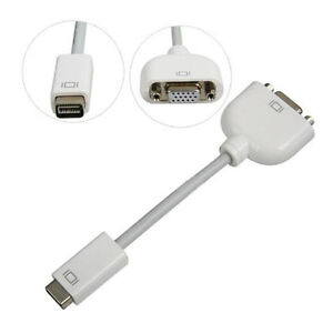 New Mini DVI to VGA Display Adapter Cable cord For Apple Mac