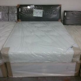 Brand New 4ft 3/4 Small Double Quilted Ortho Mattress and Divan base FREE delivery