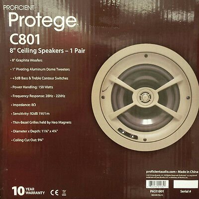 Proficient Audio C801 Graphite Speakers