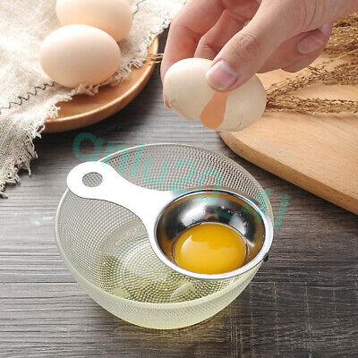 Stainless Steel Egg Yolk Filter Separator Cooking Kitchen Gadget Baking Tool
