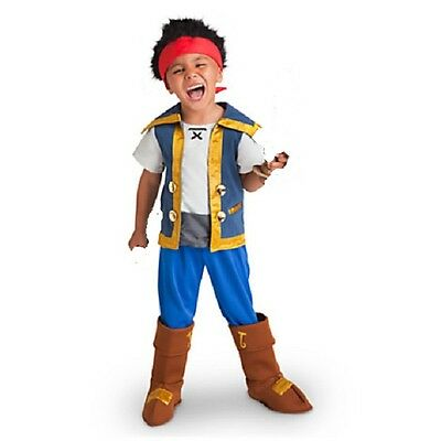 JaKe and the NeVeR LaNd PiRaTeS~Costume~WIG+TOP+PANTS+COVERS~NWT~Disney Store - Jake The Pirate Costume