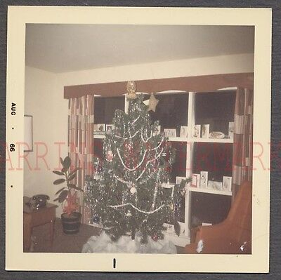 Holiday Color Photo - Vintage Color Photo Christmas Tree & Holiday Decorations in Home Interior 682567