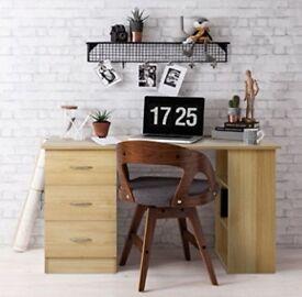 Work Desk (Oak) and Desk Chair