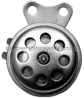 COMPACT RETRO 6 VOLT ZINC PLATED HORN 100 DECIBELS BSA TRIUMPH AJS CAF