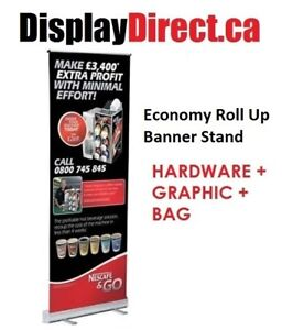 Economy Retractable Banner Stand  | Pull / Roll Up Banners