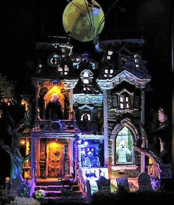 MINT RARE RETIRED Lemax Spooky Town MORBID MANOR #95804 Halloween  (Halloween Manor)