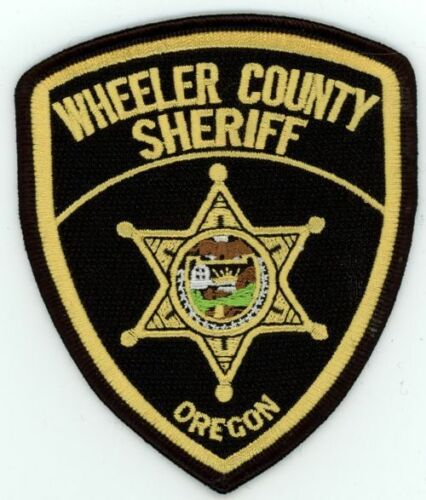 WHEELER COUNTY SHERIFF OREGON OR NICE COLORFUL PATCH POLICE