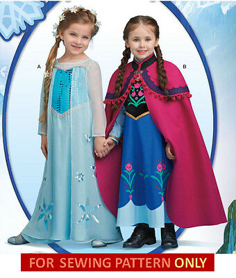 RETIRED SEWING PATTERN! MAKE FROZEN COSTUME~DISNEY PRINCESS ANNA~ELSA! SIZES 3~8 (Make Anna Costume)