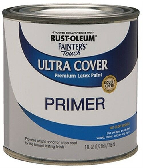 1/2PT GRY LTX Primer,No 1980-730,  Rust-Oleum