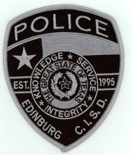 EDINBURG TEXAS TX INDEPENDENT SCHOOL DISTRICT POLICE SUBDUED NEW PATCH SHERIFF