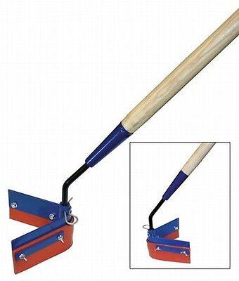 Kraft Tool Asphalt Crack Squeegee Reversible Wheavy Duty Wood Handle