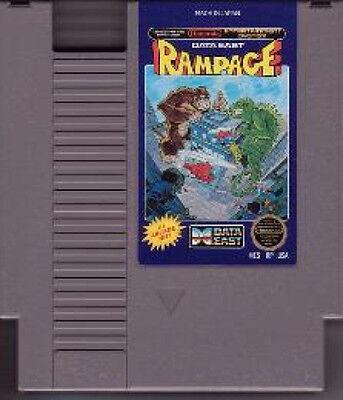 RAMPAGE DESTROY BUILDINGS ORIGINAL RARE NINTENDO GAME SYSTEM NES HQ
