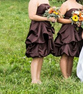 Size 10 chocolate brown bridesmaids or prom dress