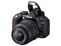 Nikon D3100, 18-55mm lens, 55-300mm VR lens, 16GB SanDisk, carry case, tripod, user manual