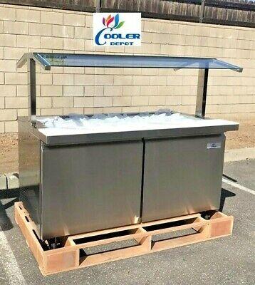 New 60 Cold Table Refrigerator Cooler Buffet Salad Bar Fruit Display Nsf Ul