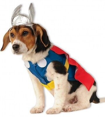 Pet Dog Cat Thor Avengers Marvel Halloween Fancy Dress Costume Outfit Clothes - Thor Dog Halloween Costume