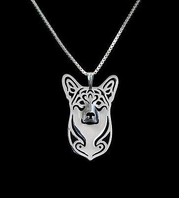 Corgi Dog Pendant Necklace Silver ANIMAL RESCUE DONATION